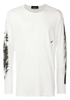 Stone Island Shadow Project graphic print long sleeve top - White