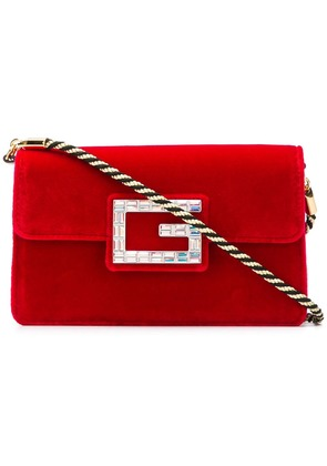 Gucci square G clutch - Red