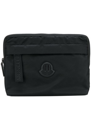 Moncler zipped laptop case - Black