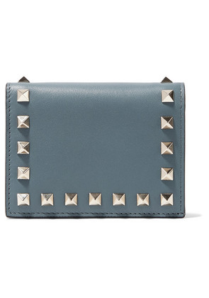 Valentino - Valentino Garavani The Rockstud Leather Wallet - Teal