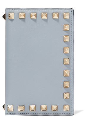 Valentino - Valentino Garavani The Rockstud Leather Cardholder - Light blue