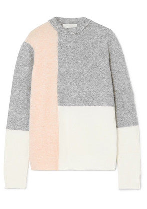 3.1 Phillip Lim - Lofty Color-block Knitted Sweater - Gray