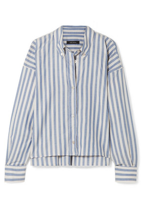 Isabel Marant - Macao Oversized Striped Cotton-poplin Shirt - Blue