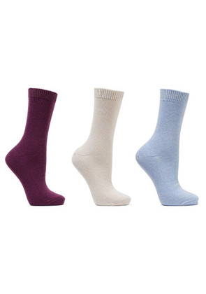 Falke - Set Of Three Knitted Socks - Grape