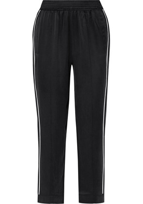 ASCENO - Washed-silk Pajama Pants - Black