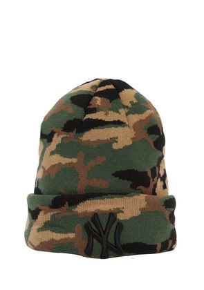 ESSENTIAL NY YANKEES CAMO BEANIE HAT