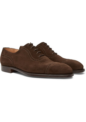 George Cleverley - Adam Suede Oxford Brogues - Brown