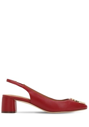 45MM CATERINA LEATHER SLING BACK PUMPS