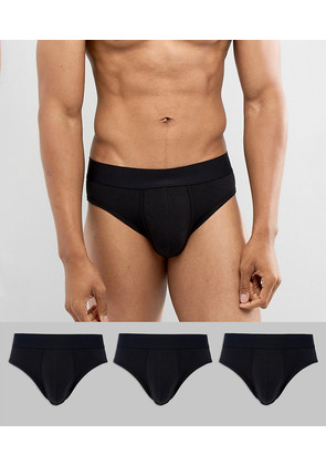 ASOS Briefs With Back Mesh Insert 3 Pack - Multi