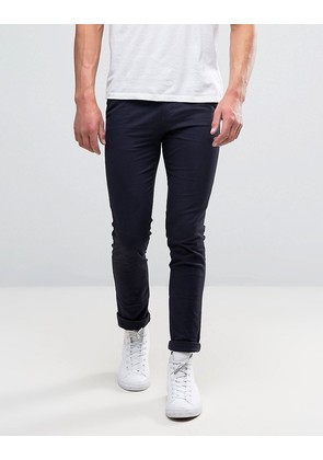 New Look Skinny Chinos In Navy - Navy