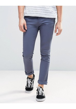 New Look Skinny Fit Chinos In Blue - Indigo