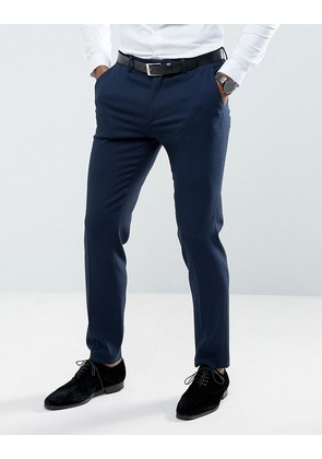 ASOS Wedding Skinny Suit Trouser in Woven Texture in Navy - Navy