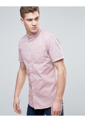 Jack & Jones Originals Short Sleeve Shirt in Slim Fit with Button Down Collar - Deauville mauve