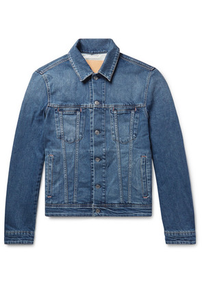 Pass Slim-fit Stretch-denim Jacket