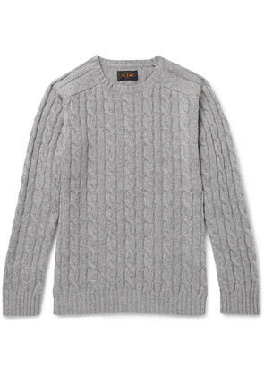 Beams Plus - Cable-knit Wool-blend Sweater - Gray