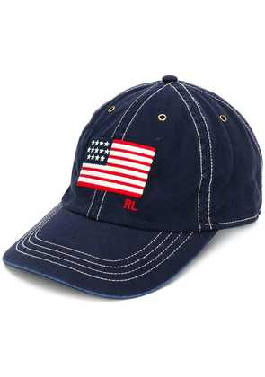 Polo Ralph Lauren embroidered flag cap - Blue