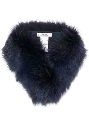 Desa 1972 fur collar scarf - Blue