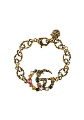 Gucci crystal embellished GG bracelet - Metallic