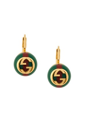 Gucci Web Interlocking earrings - Green