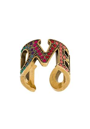 Gucci embellished Loved ring - Metallic