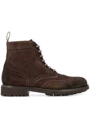 Doucal's lace-up boots - Brown