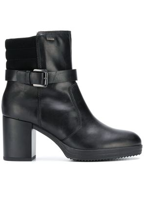 Geox buckled ankle boots - Black
