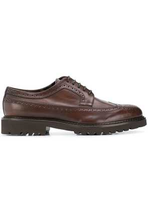 Doucal's thick sole brogues - Brown
