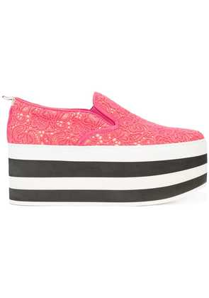Gucci Lace platform sneakers - Pink & Purple