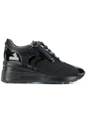 Geox woven lace-up sneakers - Black