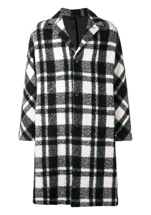 Joseph oversized plaid coat - Black