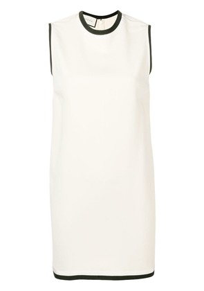 Gucci grosgrain trim shift dress - Nude & Neutrals