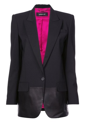 Barbara Bui leather-panelled blazer - Black