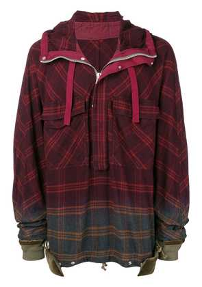 Sacai plaid pullover jacket - Red