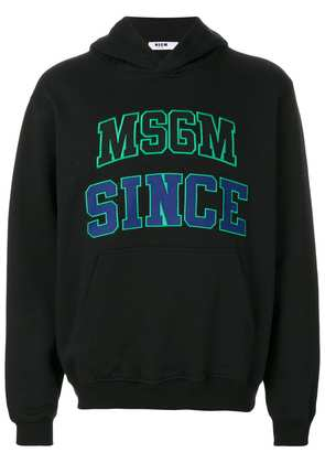 MSGM embroidered hoodie - Black