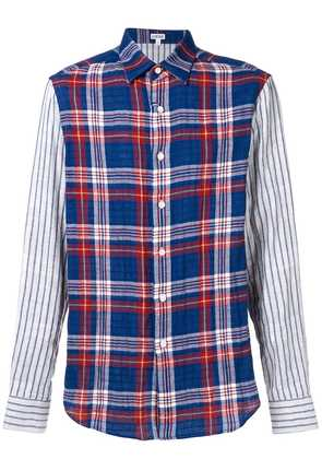 Loewe checked button shirt - Blue
