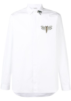 Valentino dragonfly embroidered shirt - White