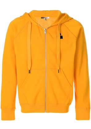 Isabel Marant printed logo zipped jacket - Yellow & Orange
