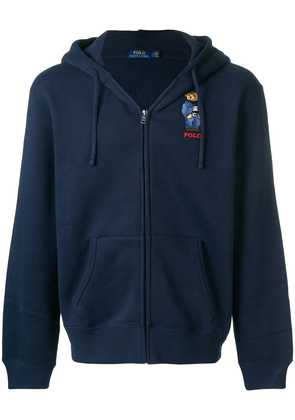 Polo Ralph Lauren embroidered Teddy cardigan - Blue