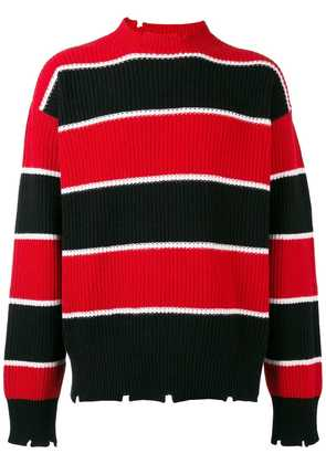 MSGM striped knit sweater - Red