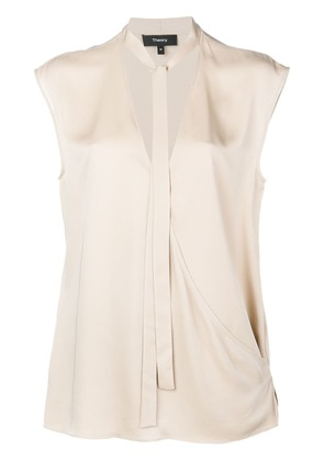 Theory relaxed wrap top - Nude & Neutrals