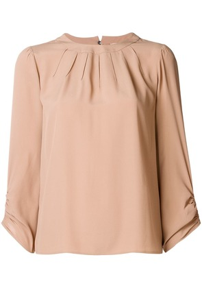 No21 pleated blouse - Nude & Neutrals