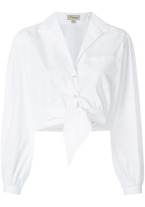Temperley London Villa tie waist shirt - White