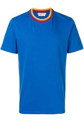 Marni contrast collar T-shirt - Blue