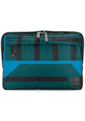 Marni Marni x Porter striped clutch bag - Green