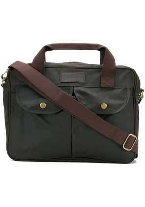 Barbour logo patch briefcase - Green