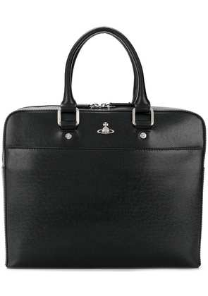 Vivienne Westwood logo plaque laptop bag - Black