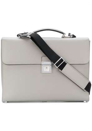 Serapian flip lock briefcase - Grey