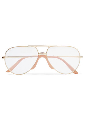 Gucci - Aviator-style Gold-tone And Acetate Optical Glasses - one size