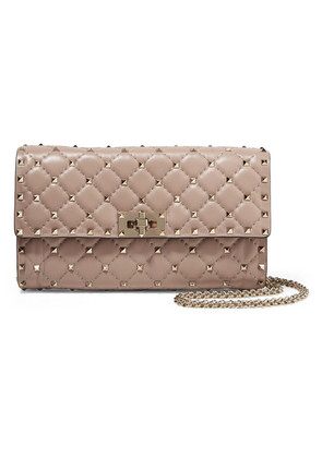 Valentino - Valentino Garavani The Rockstud Spike Quilted Leather Shoulder Bag - Blush