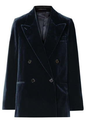 Acne Studios - Double-breasted Cotton-velvet Blazer - Navy